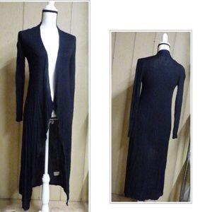 Aveto Open Front Asymmetric Hemline Drape Cardigan